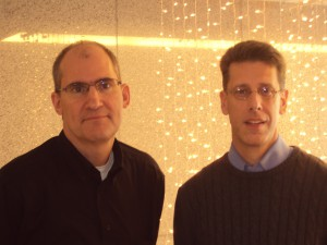 Left: Larry Wikelius, cofounder, vp software engineering Right: David Borland, cofounder vp hardware engineering