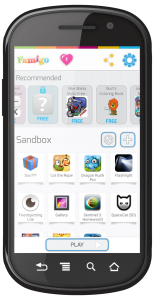 Famigo Sandbox Provides Personalized App Recomendations and Parental Controls. It Automatically Filters Apps on the Device and Creates a Kid-Safe Space.