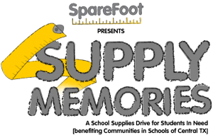 Sparefoot Spearheads Back to School Supply Drive