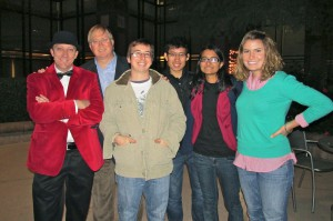 Nick Longo and Graham Weston, co-founders of Geekdom with visiting Texas A&M students.