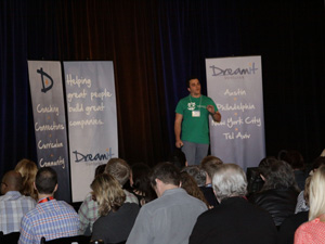 On the Stage at DreamIt Austin Demo Day -Photography by Samantha Davis
