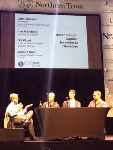 Photo of the funding panel courtesy of Austin Technology Council.