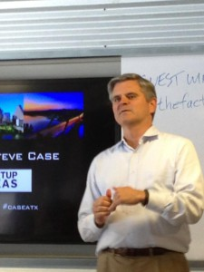 Steve Case, head of Startup America and Revolution Growth and former founder of America Online, at Capital Factory.