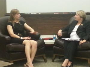 Rosa McCormick and  Laura Kilcrease at the Herb Kelleher Center Speaker Series of the McCombs Business School at UT