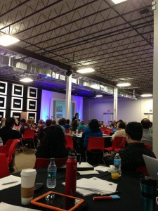 Bill Schley, author of the Unstoppables, talking about branding to the Nonprofit Technology Summit at Rackspace.