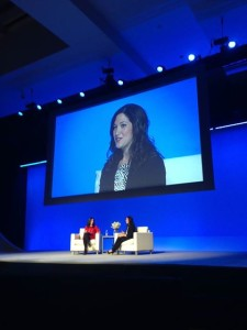 Moria Forbes, publisher of Forbes Woman, interviewing Randi Zuckerberg, author of dot complicated: Untangling Our Wired Lives