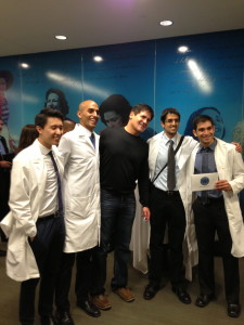 Mark Cuban with the MicroMulsion team