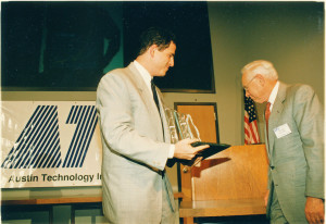 Michael Dell and George Kozmetsky, photo courtesy of the University of Texas