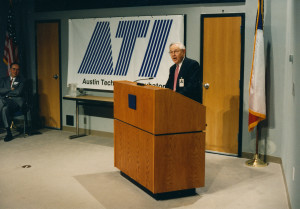 ATI Founder George Kozmetsky, photo courtesy of the University of Texas