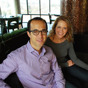 Jeffrey Schwartz and Sara Rodell, co-founders of Loop & Tie, an online gift site, based in Austin., photo by Leslie Anne Jones