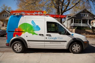A Google installation van in Kansas City, photo courtesy of Google.