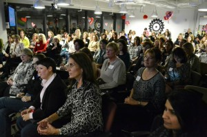 The crowd at the Women@Austin event by Sara Peralta