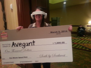 Avegant winner, photo by Susan Lahey
