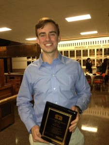 Hunter Monk, founder of MSpaces and winner of the Student Entrepreneur of the Year Award at UT at Austin.