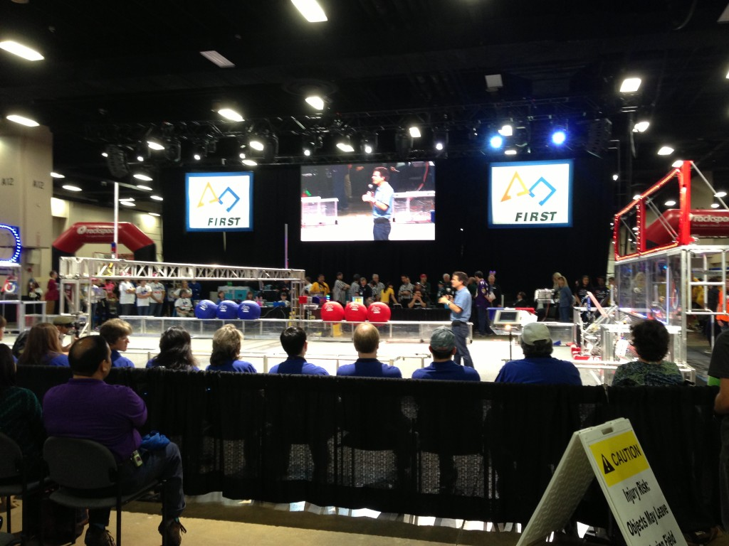 Dean Kamen, founder of FIRST Robotics, at Alamo FIRST Regional Robotics Championship