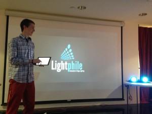 David Barrick, co-founder of We-Walk presenting at San Antonio New Tech