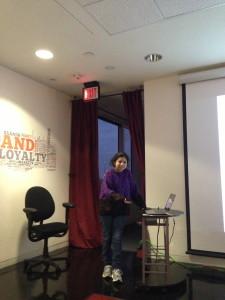Estrella Hernandez presenting We Walk at San Antonio New Tech