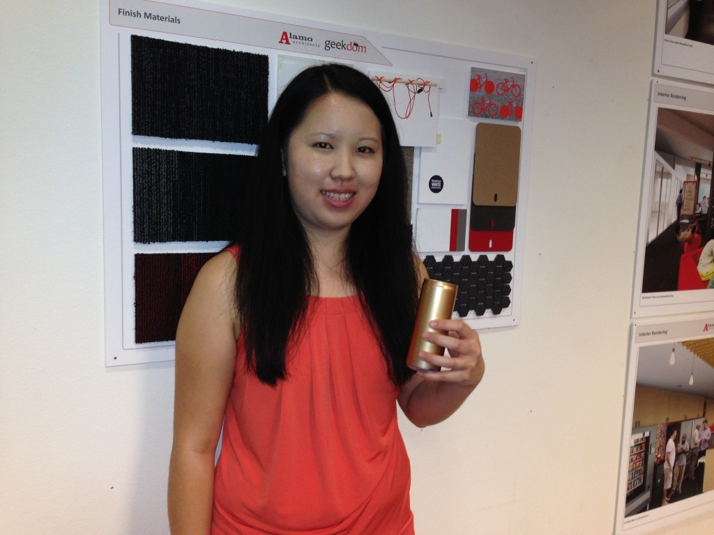 "Shihlin Lu with JSA Energy with her ""Gold Red Bull Award"" for Good Citizenship"
