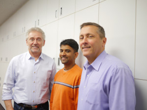 From left to right: Rick Hawkins, Dr. Subinoy Das, Joseph Skraba, photo by Leslie Anne Jones