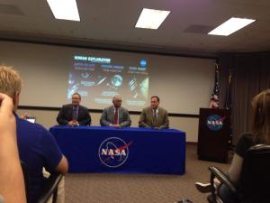Rick Gilbrech, Stennis Space Center Director, NASA Administrator Charles Bolden and NASA Associate Administrator Robert Lightfoot at Stennis, photo by Laura Lorek