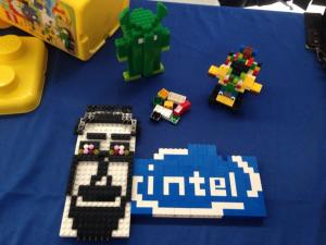 Some of the Lego winners at Intel's IoT Hackathon at Techshop
