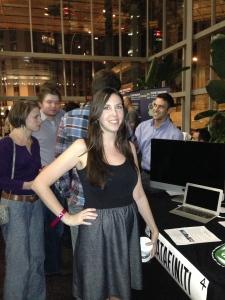 Jacqueline Hughes at Austin Startup Crawl last year at Capital Factory, photo by Laura Lorek