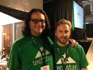 Brad Feld, co-founder of Techstars with Jason Seats, managing director of Techstars Austin, photo by Laura Lo
