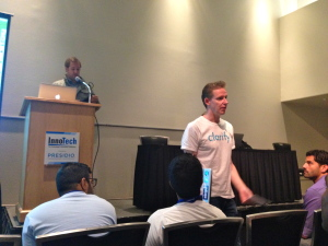 Paul Murphy, CEO of Clarify.io, answering a question from the audience at the InnoTech Austin Beta Summit