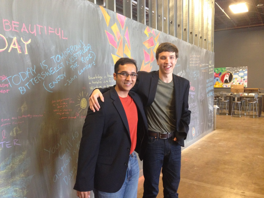Joshua Singer and Abhinav Suri, cofounders of Apps for Aptitude and School's Out Hackathon.
