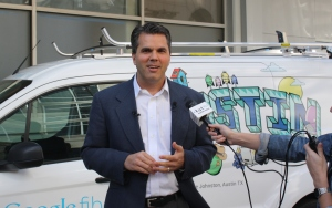 Mark Strama, head of Google Fiber in Austin, photo by Susan Lahey