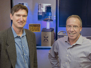 Mark Stibich, PhD, founder of Xenex and Morris Miller, CEO of Xenex. Photo by Gary Hartman