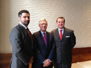 Sean Storan, vice president, Patrick M. Howlin, executive vice president and director of North America and Gerard Hayes, vice president, with IDA Ireland.