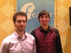 Aleksander Levental and Aidan Augustin, co-founders of Feathr