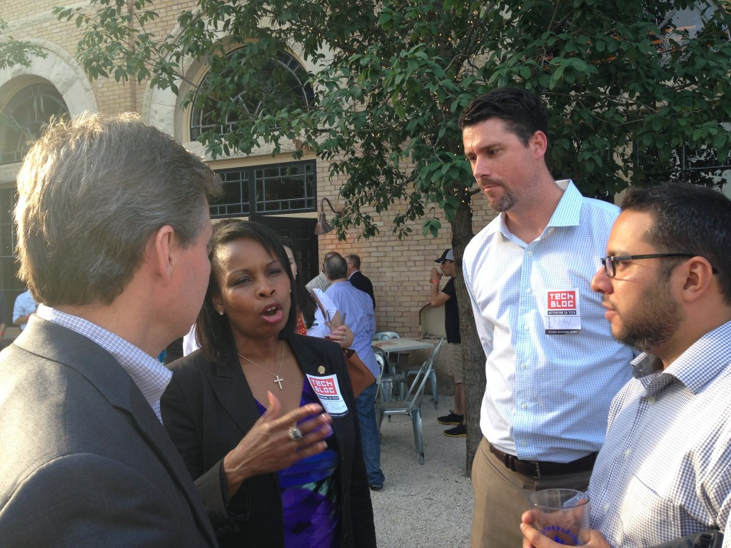 San Antonio Mayor Ivy Taylor speaking with members of the city's technology community