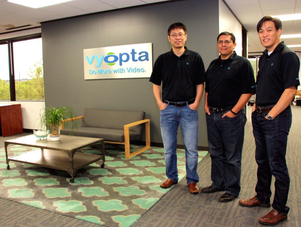 Vyopta Founders Rick Leung, Chief Technology Officer and Alfredo Ramirez, Chief Executive Officer and Andrew Chen, Vice President and General Counsel, courtesy photo.