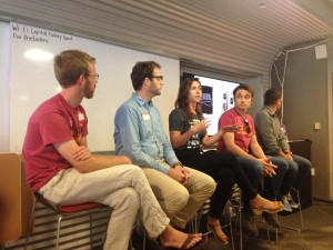 The Food + Tech Panel at Capital Factory Monday night on the bug business