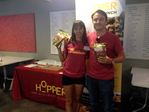 Co-founder of Hopper Foods: Marta Hudecova and Jack Ceadel. The maker of cricket granola.