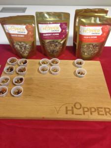 Hopper makes three types of cricket-based granola.