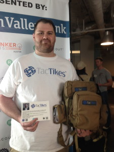 Rodney Curry, founder of TacTikes at the Bunker Austin elevator pitch event at Capital Factory.