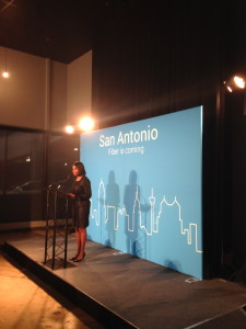 Mayor Ivy R. Taylor announcing Google Fiber is coming to San Antonio, photos by Laura Lorek
