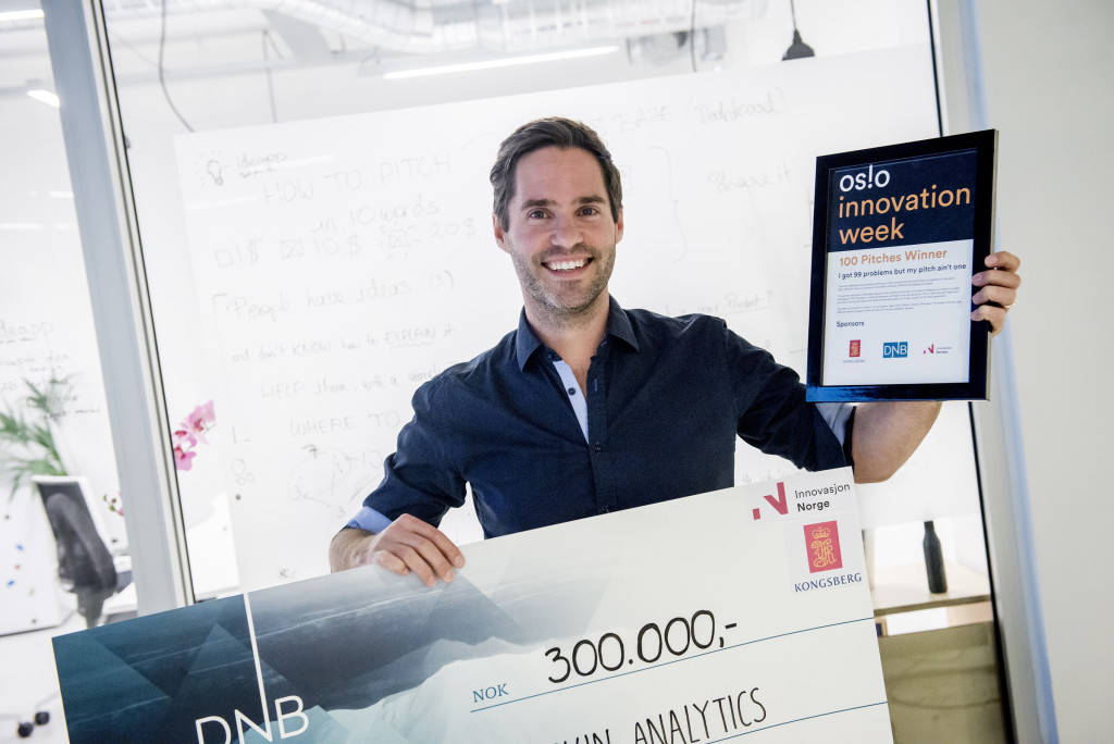 Oslo, 13.10.2015. Neil Daly from Skin Analytics wins pitching contest at Oslo Innovation Week 2015. Photo: Gorm K. Gaare COPYRIGHT:© GORM K GAARE