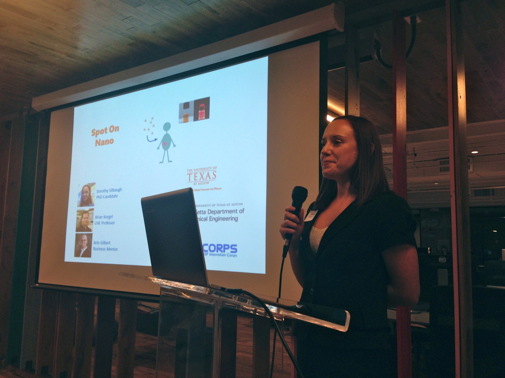 Dorothy Silbaugh, a graduate student at UT presenting Spot on Nano.