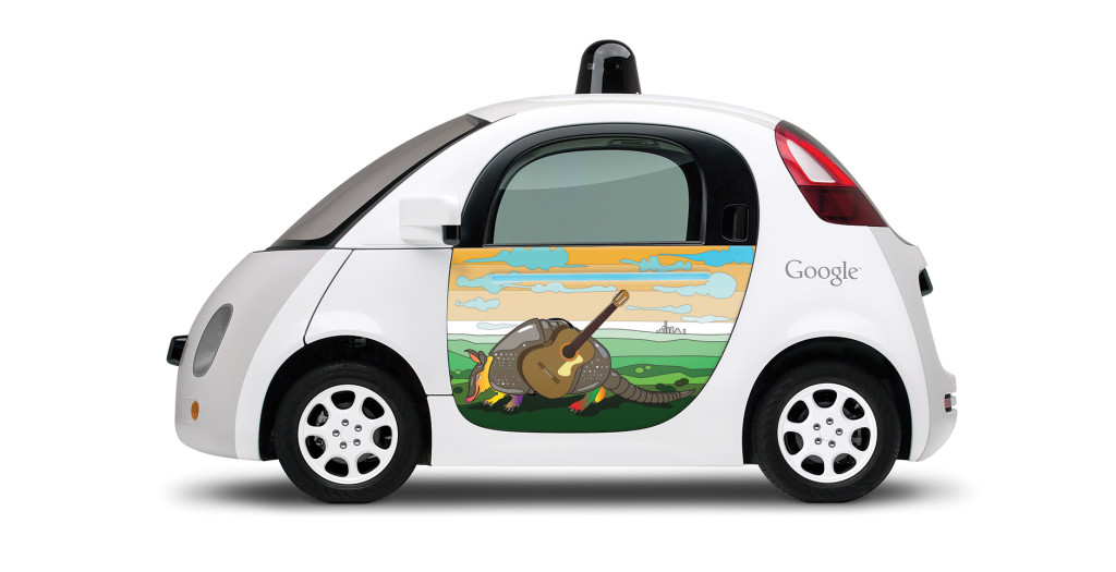 Andy Nelson's artwork on Google's prototype car. Courtesy photo.