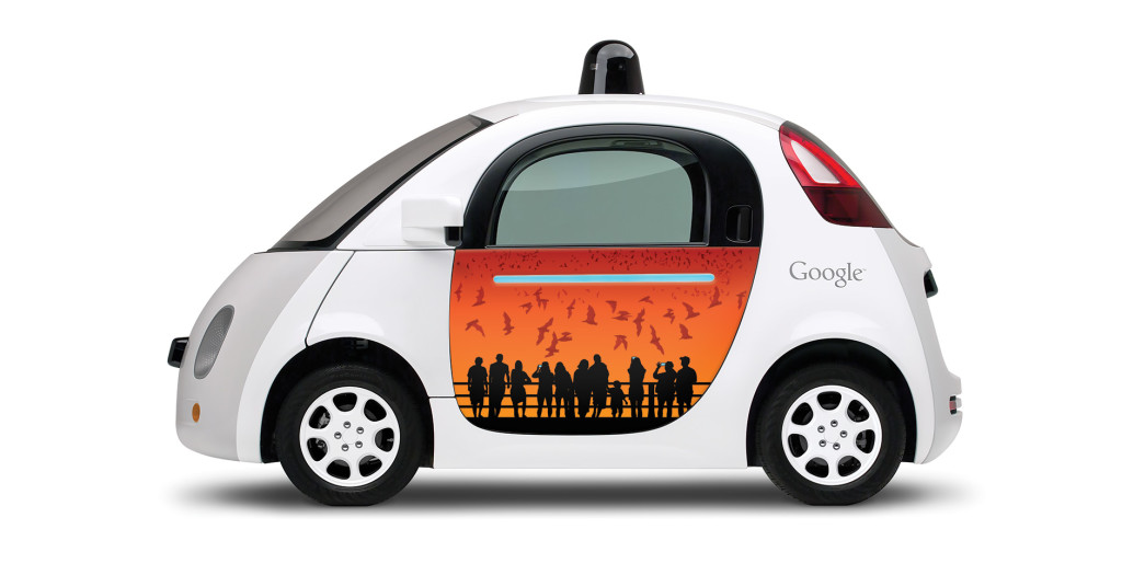 Austin Artist Catherine Malloy's design for the Google prototype car.  Courtesy photo
