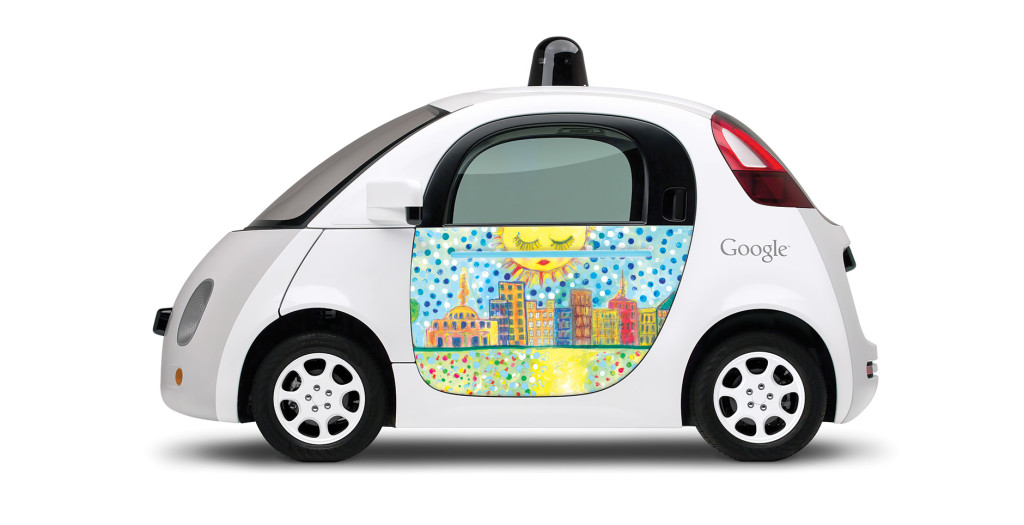 Cathy Carr Hayes's design for Google's prototype car in Austin. Courtesy photo.