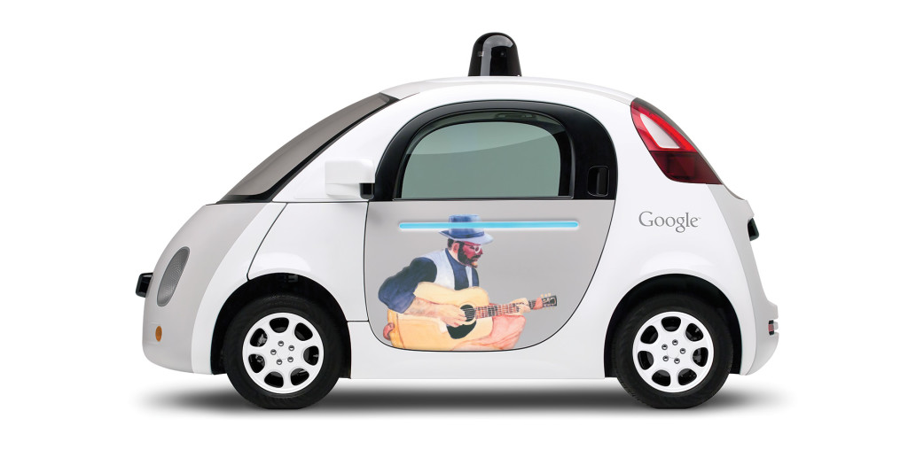 Florence Swanson's artwork on Google's prototype car. Courtesy photo.