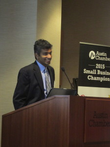 Pradeep Ashok, a research scientist at UT, presented r5.