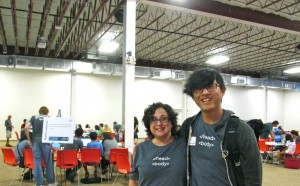 Debi Pfitzenmaier, founder of San Antonio Youth Code Jam with John Saddington, partner with The Iron Yard, file photo by Laura Lorek