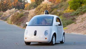 Google Prototype car in Austin, photo courtesy of Google.