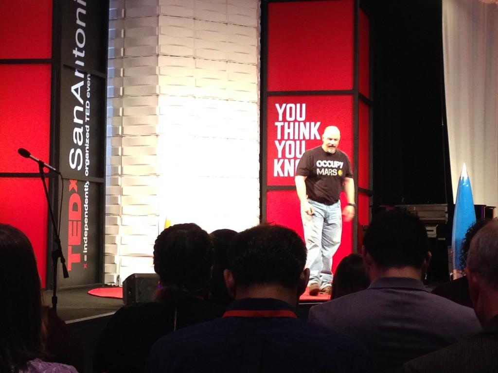 Colin Lang, aerospace studies teacher at Alamo Heights High School at TedXSanAntonio.